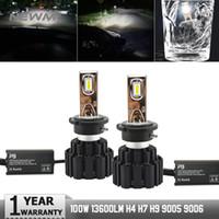 ingrosso d1s d2s-2pcs P9 Led Car Headlight D2H D1S D3S D4S D2R D2S LED Lampadina 6000K 100W Luce auto 13400LM D2S Faro Automobili Fendinebbia