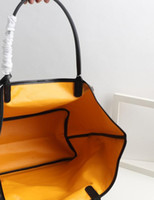 Wholesale 3d yellow bag resale online - 2019 new Paris Style with leather double sided Claire Voie Tote GY bag Goya Symphony D effect shopping bag