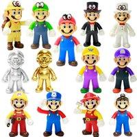 brinquedos de super mario plush venda por atacado-Super Mario Bros Levante Luigi Mario brinquedos de pelúcia macia Stuffed Anime Dolls para presentes dos miúdos Super Mario brinquedos de pelúcia 50pcs RRA2082