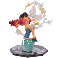 Wholesale car actions for sale - One Piece Action Figures Fire Punch Luffy Doll Car Decoration Battle Version With Box Japanese Anime mf F1