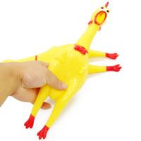 смешные подарки оптовых-Funny Pet Vent Chicken Творческий пронзительный Цыпленок Звук Сожмите Кричащие Игрушки Выпуск Давления Подарок Для детей