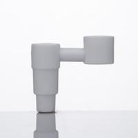 schüssel bieten großhandel-Silika Ceramic Nail 14 / 19mm Männlich Joint Bowl Rauch Werkzeug Lebensmittelqualität Keramik Domeless Quarz Nagel Angebot Quarz Titan Banger Dozer Nails190