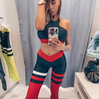 Wholesale cool gym clothes resale online - GXQIL Cool Gym Clothing Piece Sportswear Woman Dry Fit Fitness Suit Workout Clothes for Women Bra Legging Yoga Costume S