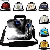 9,7 zoll pc großhandel-Viviration Laptoptasche 14 12 13 10 15 17 Zoll Katzenschulterhandtaschenhülle Tablet PC Umhängetasche 10.1 9.7 10.5 Zoll Reißverschlusstasche