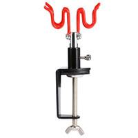 plumeau rouge achat en gros de-Kit de pulvérisation de peinture Maintenez aérographe Support de gravité Peinture aérographe Pulvérisateur Outils électriques Pince sur table