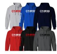 Wholesale anti uv clothes resale online - for Yamaha Factory Racing Hoodie Sweat Shirt Hooded Motorcycle Team Motorsport Sport Long Sleeve motorcycle clothing