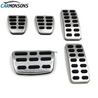 Wholesale gas pedal covers resale online - Carmonsons AT MT Stainless Steel Gas Brake Pedal Cover for Kia Rio K2 Soul Cerato Car Styling