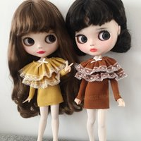 Wholesale yellow doll dress for sale - Group buy 1PCS Yellow Brown Doll s Blyth Clothes Long Sleeve Skirt for Blyth Cute Dress doll Accessories fit blyth licca ob24 doll