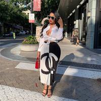 ingrosso abiti da festa dei progettisti-2019 del progettista womans abito plissettato colore contrastato moda abito a pieghe donne di lusso patchwork gonne corte vestito da partito abbigliamento A61001