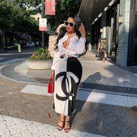 Wholesale women party clothing resale online - 2019 designer womans Pleat dress Contrast Color Fashion Pleated Dress Women Luxury Patchwork Short Skirts Party Dress Clothing A61001