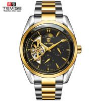 en iyi otomatik mekanik saatler toptan satış-TEVISE Erkekler Saatler Üst Marka Mekanik İzle Lüks Aydınlık Otomatik İzle Erkek Saat İş Bilek en iyi hediye