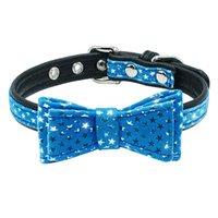 ingrosso legami di prua neri-Cute Dog Cat Puppy Collars Farfallino Imbottito per piccoli animali Cat Kitten Doggy Chihuahua Blue Pink Black