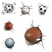 Wholesale car decorations material for sale - Group buy 3D Car Stickers Simulation Basketball Baseball Football Sticker Car Exterior Styling Stretches Decoration Ball Stickers styles GGA1906