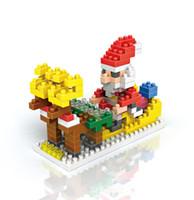 ingrosso piccolo babbo natale di plastica-New Santa Claus piccole particelle di diamante blocchi di plastica incantesimo inserire serie natalizie regali di festa benvenuti su ordinazione