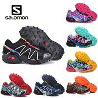 Wholesale mens soft spikes running shoes resale online - Salomon Speedcross CS Athletic Shoes Mens Women Speed Cross III Black Blue Running Outdoor Hiking Sports Sneakers