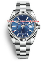 relógios venda por atacado-8 estilo Top qualidade Topselling 42 milímetros Sky-Dweller GMT Workin 326934 326933 326938 data aço Ásia 2813 movimento automático Mens Watch Watches