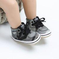 sapatas de lona do bebê infantil venda por atacado-Canvas de esportes clássico Sneakers recém-nascido Meninos Meninas Primeiro Walkers Calçados infantil da criança macia Sole Anti-derrapante bebê Shoes A