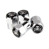 Wholesale black chrome motorcycle for sale - Group buy New Set Classic SKULL Anti theft Chrome Car Wheel Tire Valve Stem Cap For Car Motorcycle Air Leakproof And Protection Your Valve