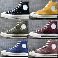sapatas ocasionais da lona do homem venda por atacado-Hot Moda 1970 Chuck All Star Amarelo Verde Azul Sapatos Casuais Sapatas de Lona 1970 Das Mulheres Dos Homens Designer de Formadores Tênis de Skate zapatos