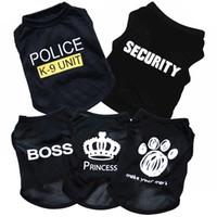 yaz için köpek giysileri toptan satış-Sevimli Pet Köpek Kedi Yelek Giyim Küçük Kazak Yavru Yumuşak Ceket Ceket Yaz Giyim Karikatür Giyim t gömlek Ucuz Tulum Kıyafet pet tedarik