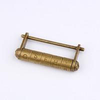 antik çekmece kutuları toptan satış-Çinko Alaşım Antik Bronz Retro Şifreli Kilit 5 Mektup Şifre Ahşap Bavul Çekmece ZC0698 için Kilit Mücevher Kutusu Asma Kilit