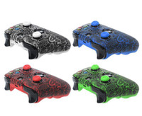 Wholesale xbox one joystick resale online - For Xbox One S X Controller Case Soft Silicone Cases Comfortable Gamepad Skin Printing Rubber Joystick Cover Analog Caps DHL