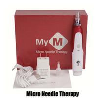anti-aging-hautstift großhandel-Elektrischer Derma Pen Stamp Auto Micro-Nadel-Therapie Roller Anti-Aging Haut Wand MYM Derma Stift