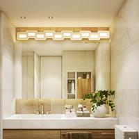 espejos de baño de hotel led al por mayor-Nordic led espejo luz 400-1200mm Hardware + acrílico baño lámpara dormitorio cosmestic iluminación hotel vestíbulo led baño aplique