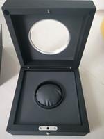 preços caixas de presente venda por atacado-Nova Moda Preço Wholesle Mens Watch Box Mulher Relógios Caixas Caixa Preta Presentes Papel Cartão Caixa De Relógio