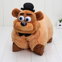 Wholesale brown bear pillow resale online - Pillow Fnaf Five Nights At Freddy S Red White Foxy Mangle Freddy Bear Nightmare Bonnie Shadow Toys Plush Pillow Cushions Doll Toys