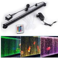 ingrosso luce corallo dimmerabile-Acquario LED Lighting 46CM 5050 RGB LED Acquario Fish Tank luce sommergibile Air Aquarium Lampada telecomando