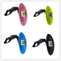 Wholesale digital weighing display resale online - New Dining Digital Electronic Luggage Scale LCD Display Travel Handheld Weighing Luggage Scale Weight Balance g kg Lb