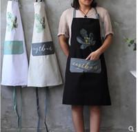 bronzing öl großhandel-Baumwoll-Baumwoll-Schürze Haushaltsküchen-Reinigung Ölfeste Gürteltasche Bronzing-Coffee-Shop im nordischen Stil Blumenladen