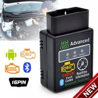 lector de códigos automáticos al por mayor-Mini ELM327 V2.1 Bluetooth HH OBD OBDII avanzado OBD2 ELM327 Escáner de diagnóstico del escáner de diagnóstico automático del coche herramienta de escaneo venta caliente