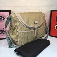 Wholesale diaper bag mummy resale online - Diaper Bag in Designer Print High Quality Designer Diaper Bag for Sale Functional Shoulder Designer Bag for Mummy