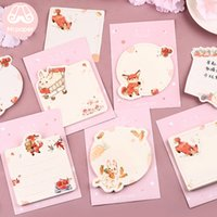 Wholesale rabbit notepad for sale - Group buy Cartoon Designs Animals Memo Kawaii Notes Fox Notepad Sticky Self Stick Pad Diary Pads Memo Notes Rabbit Fuflc