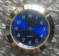gebrauchte uhren großhandel-METALL 37mm Einsatz Uhr beliebtesten gebrauchten standand blau arabisch mini 37mm Silber Metalleinsatz Uhr römischen Zifferblatt fit up Uhr