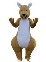 trajes de mascote de canguru venda por atacado-2019 venda direta da Fábrica um canguru trajes da mascote adultos natalina Halloween Outfit Fancy Dress Suit