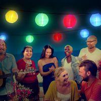 lanternas solares ao ar livre venda por atacado-Lanterna de Fadas ao ar livre Luzes Da Corda Solar 10/30 LED Globo de Natal Luz para o Interior e Ao Ar Livre Gramado Festa de Casamento Do Jardim