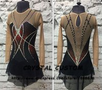 Wholesale skating figure for sale - Group buy Custom Made Figure Skating Dress Adult New Brand Figure Skating Dresses For Competition DR4790