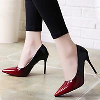 c5c471d9d Sapatos de vestido Das Mulheres 2019 Sombra Apontou Bombas Do Dedo Do Pé De  Couro Patente Vinho Cinza Vermelho 10 cm de Salto Alto Barco Festa Zapatos  Mujer