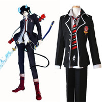 Anime Ao no Exorcist Blue Exorcist Okumura Rin Okumura Yukio Cosplay Costume JP School Uniform Costume