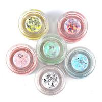 Wholesale pink light gels resale online - Hot Sell HANDAIYAN glitter gel color fairy colorful eye makeup Mermaid glitter gel shine and highlight eye shadow glitter gel