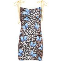 tasarımcı leopar elbisesi toptan satış-Moda Bayan Tasarımcı Elbiseler Seksi Sıkı Leopar Baskı Elbise Yüksek Kalite Kadınlar Tasarımcı Seksi Sling Elbise