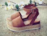 Wholesale brown wedge flip flops for sale - Group buy Wedges Shoes For Women Sandals Plus Size High Heels Summer Shoes Flip Flop Chaussures Femme Platform Sandals