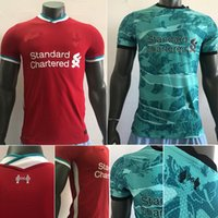 Wholesale sports uniforms resale online - New High quality player version men s red blue sports breathable formation etto short sleeved football uniform shirt football shirt