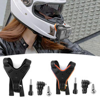 Wholesale dji osmo camera resale online - Motorcycle Helmet Chin Fixed Bracket Small Ant Accessories Motorcycle Helmet Mounting Bracket Holder For DJI Osmo Action Camera