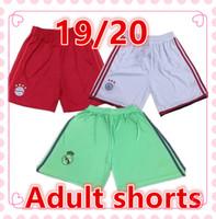 tamaño de estados unidos al por mayor-Real Madrid Pantalones cortos de fútbol 19/20 pantalones cortos de Bayern Munich Juventus Ajax Chelsea Liverpool France  USA pantalones cortos para hombre Talla europea S-XL