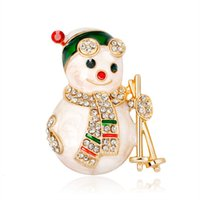 Wholesale christmas brooches for sale - Group buy Cartoon Christmas Snowman Brooch Joker Gift
