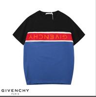 new shirts stitching style al por mayor-2019 moda europea impresión nuevo estilo de costura ocasional del verano suelto 100% algodón cuello redondo manga corta camiseta envío gratis
